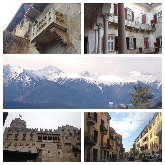Juliet's Balcony, view on the way to school, Castle Thun, & Verona